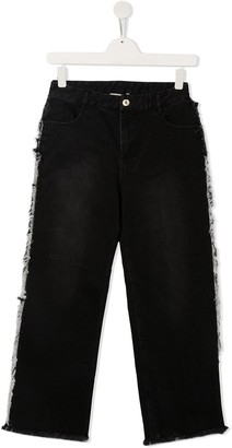 Twin-Set TEEN frayed sides jeans