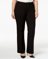 Alfani Plus Size Straight-Leg Trousers, Only at Macy's
