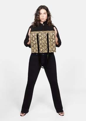 MANGO Snake-effect shopper bag