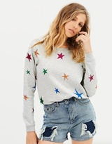 Maison Scotch Glitter Star Crew Sweat