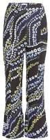Erdem Verity printed crêpe trousers