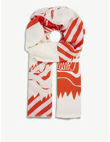 Kenzo Double tiger print scarf