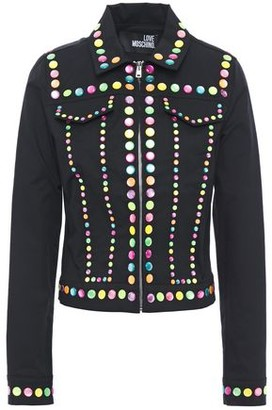 Love Moschino Studded Stretch-cotton Twill Jacket