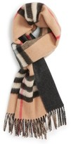 Burberry Men's Check Cashmere Scarf