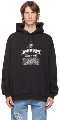 Vetements Black Washed World Tour Hoodie