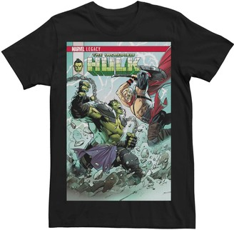Victoria's Secret Men's Marvel Legacy Hulk Thor Comic Book Cover Tee