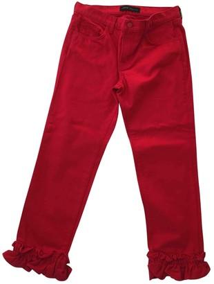 J Brand X Simone Rocha Red Denim - Jeans Trousers for Women