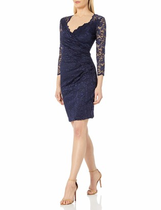 Onyx Nite Women's Short Stretch Lace with Sweetheart Neck