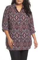 Foxcroft Plus Size Women's Jade Heirloom Paisley Shirt