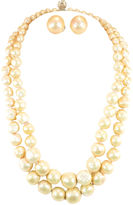 One Kings Lane Vintage Vogue Faux Baroque Pearl Necklace Suite