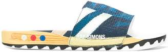 Raf Simons textured detail flip flops