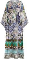 Camilla Long-sleeve kimono maxi-dress