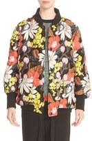 Marni Women's Floral Quilted Bomber Jacket
