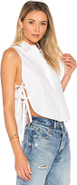 KENDALL + KYLIE Crop Shell Top in White. - size L (also in M,S,XS)