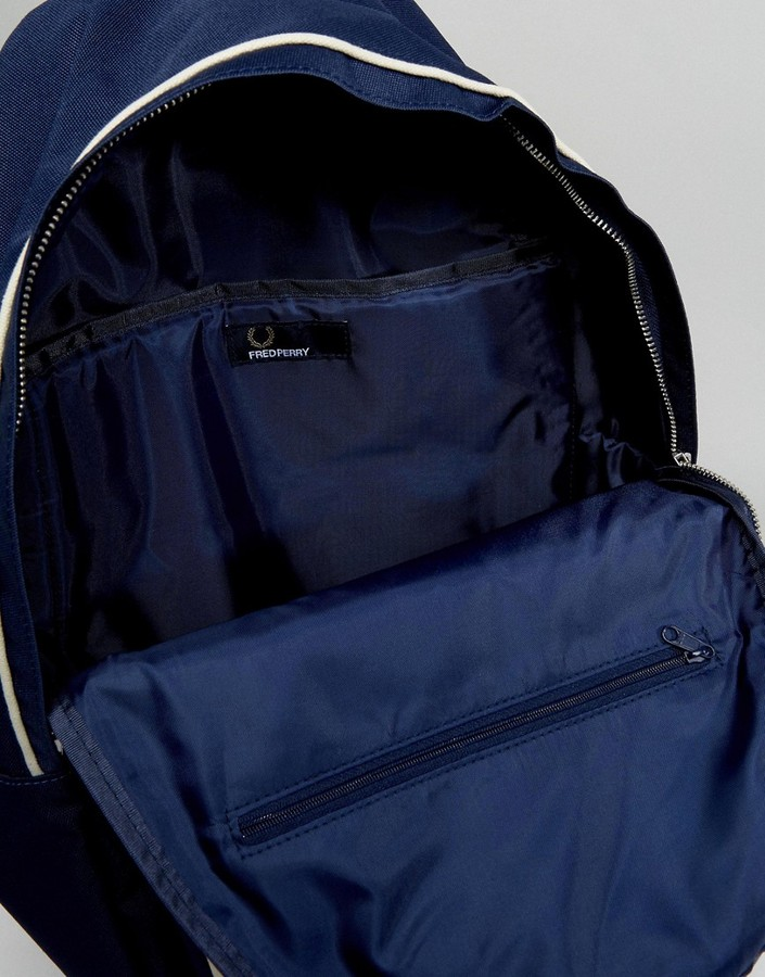 Fred Perry Twin Tipped Backpack In Navy
