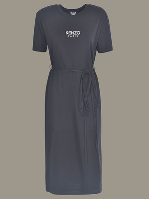 Kenzo Long Dress With Short Sleeves