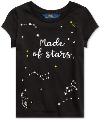 Polo Ralph Lauren Little Girls Star-Print Cotton Jersey T-Shirt