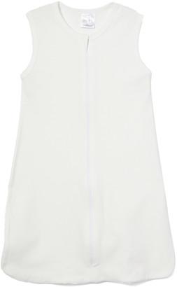 TenderTyme Infant Sleeping Sacks White - White Zip-Up Wearable Blanket - Newborn