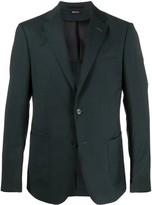 Ermenegildo Zegna Textured Wool Single Breasted Suit Jacket