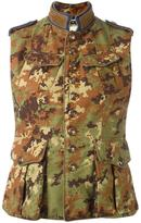 DSQUARED2 'Runway Livery Tenent' camouflage vest - women - Goat Skin/Polyamide/Polyester/Viscose - 40