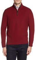 Tailorbyrd Men's Prien Tipped Quarter Zip Sweater