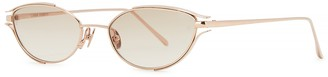 Linda Farrow Luxe Violet C4 rose gold-tone cat-eye sunglasses