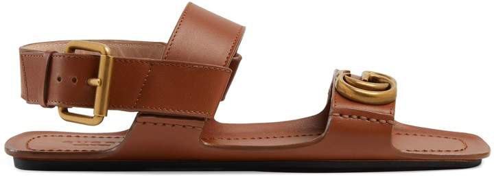 Gucci Women's leather sandal with Double G