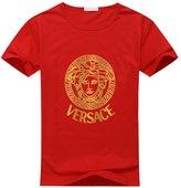 Versace Logo Men's Casual Crew Neck Cotton T Shirt