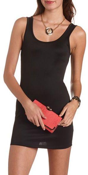 Charlotte Russe Bow-Back Scuba Body-Con Dress
