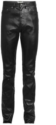 Saint Laurent Slim Leather Jeans