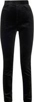 Haider Ackermann High-waist slim-leg corded-velvet trousers