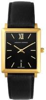 Larsson & Jennings 'Norse' Rectangular Leather Strap Watch, 29Mm X 40Mm