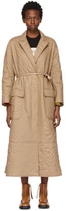 MONCLER GENIUS 1 Moncler JW Anderson Khaki Quilted Penbryn Coat