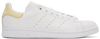 adidas White and Yellow Stan Smith Sneakers