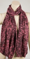 Burnout Scarf in Foggy Pink/Brown