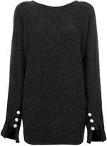 3.1 Phillip Lim Pearl-cuff sweater - women - Polyamide/Spandex/Elastane/Wool/Yak - S