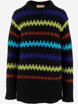 Plan C Striped Wool Women's Long Sweater