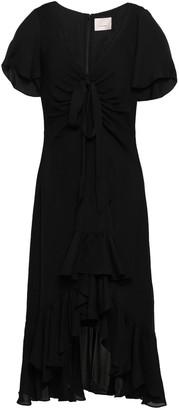 Cinq à Sept Knotted Silk Crepe De Chine Dress