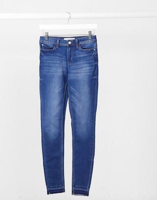 JDY Jake high rise skinny jeans in medium wash denim