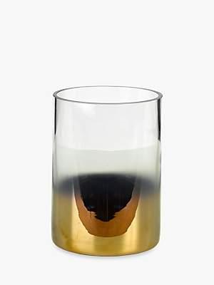 Pols Potten Hurricane Half Gold Vase, Small