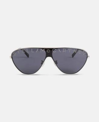 Stella McCartney dark blue mask sunglasses