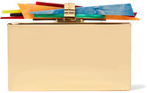 Edie Parker Wolf Gold-plated And Acrylic Box Clutch - one size