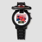 Marvel Boys' Spider-Man Flip Top LCD Watch - Black