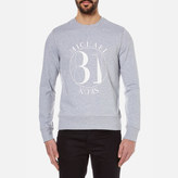 Michael Kors Men's Slogan Terry Crew Sweatshirt Heather Grey