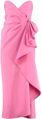 ATTICO Draped Corset Dress