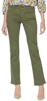 NYDJ Marilyn Straight Jeans in Martini Olive (Martini Olive) Women's Jeans