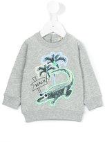 Stella McCartney crocodile print sweatshirt - kids - Cotton - 9 mth
