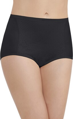 Vanity Fair Women's Smoothing Comfort Brief Panties with Rear Lift