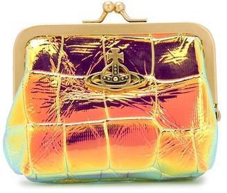Vivienne Westwood Metallic Croco-Effect Wallet