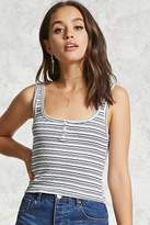 Forever 21 Variegated Stripe Tank Top